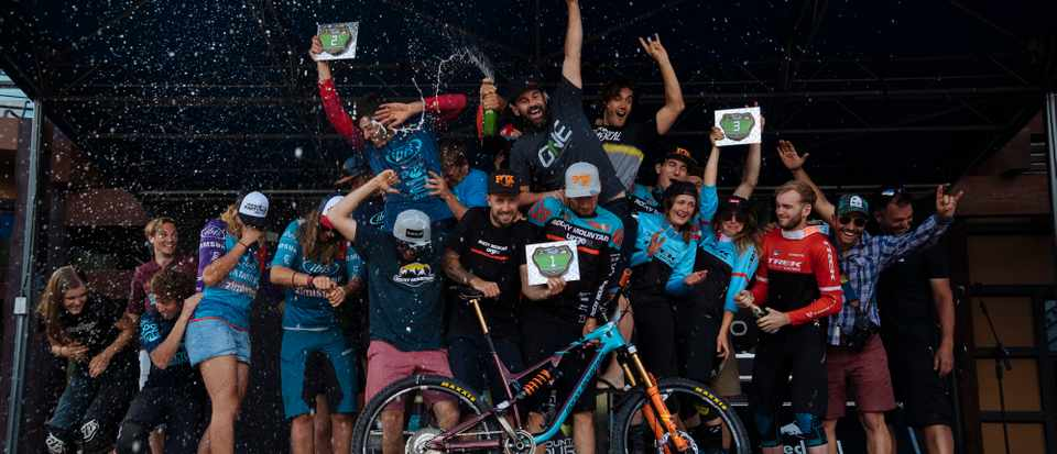 For those that win, glory is sweet! Credit: Enduro World Series