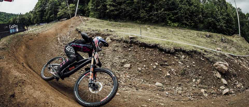 Tahnée Seagrave took the ladies' win at Mont-Sainte-Anne. Credit: Red Bull