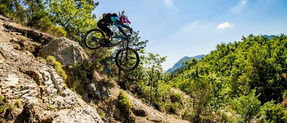 Loose trails and some shady take offs were order of the day for Rob's first day in and around Sospel. Credit: Santa Cruz