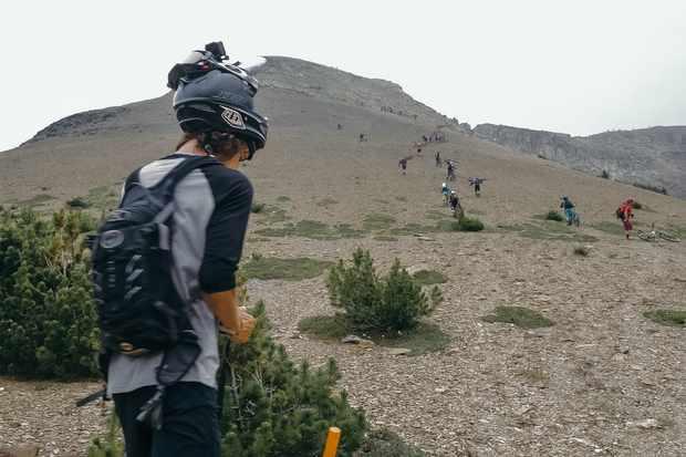 The hike-a-bike sections were tough! Credit: Garret Van Swearingen