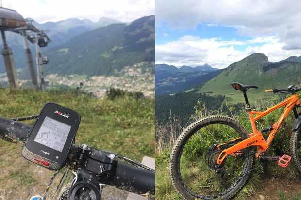 Al with his Orange Segment Pro in the Alps