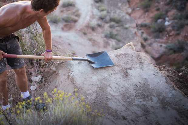 trail line building at red bull rampage
