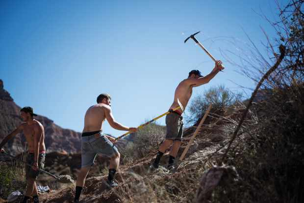 tools for sculpting mountain bike trails