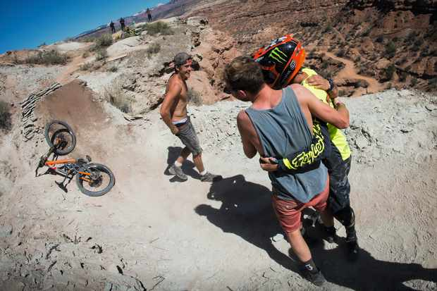 olly wilkens and brendan fairclough at red bull rampage