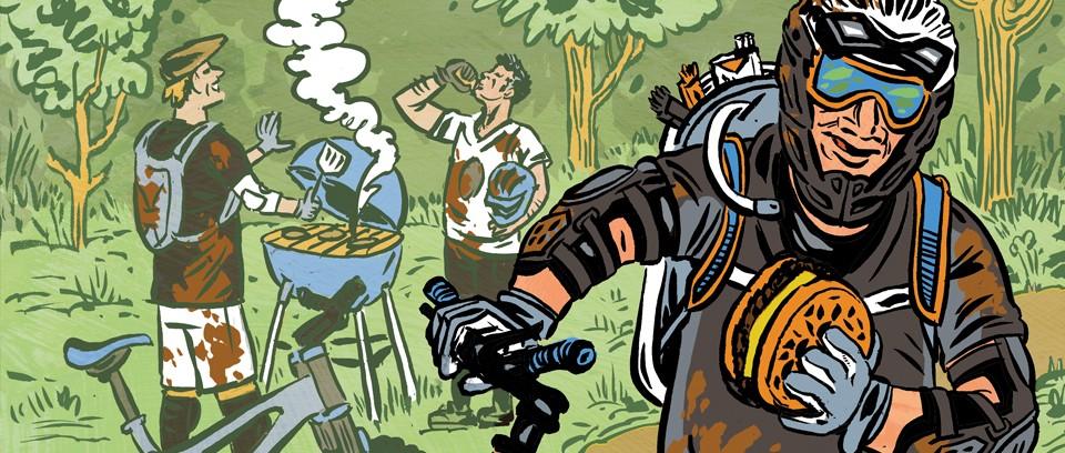 illustration of weekend warrior