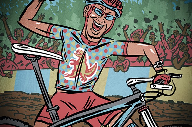 illustration of cross country mountain bike rider