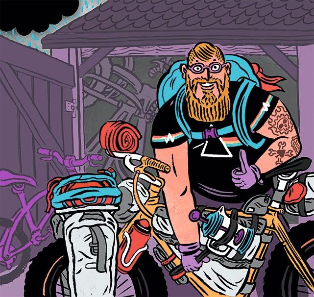 illustration of beardy_weirdy fatbiker