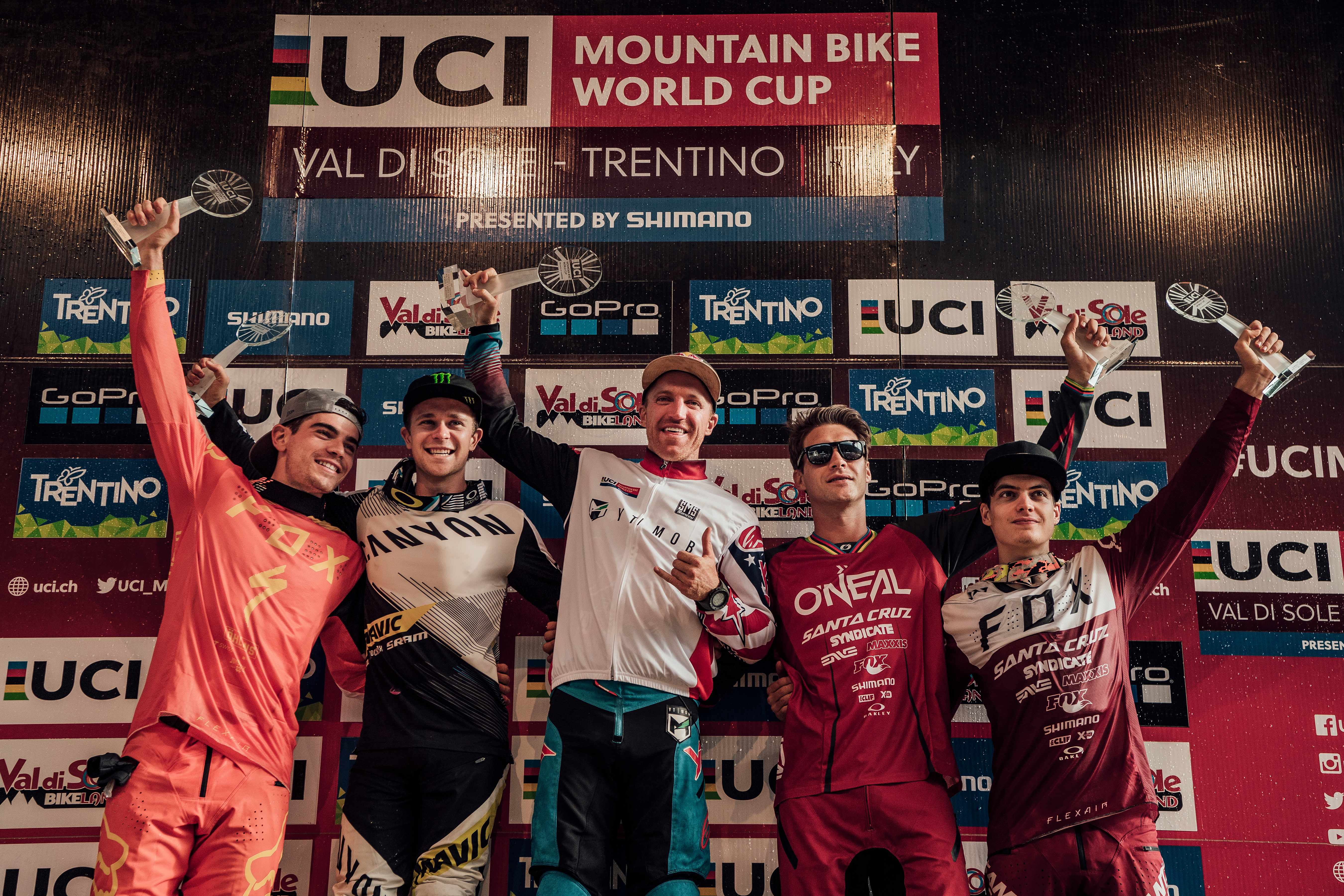Mountain bike World Cup podium