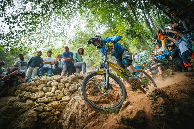Sam Hill rides the Enduro World Series in Finale, Italy.