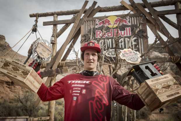 Brandon Semenuk wins the 2016 Red Bull Rampage in Virgin, Utah, USA