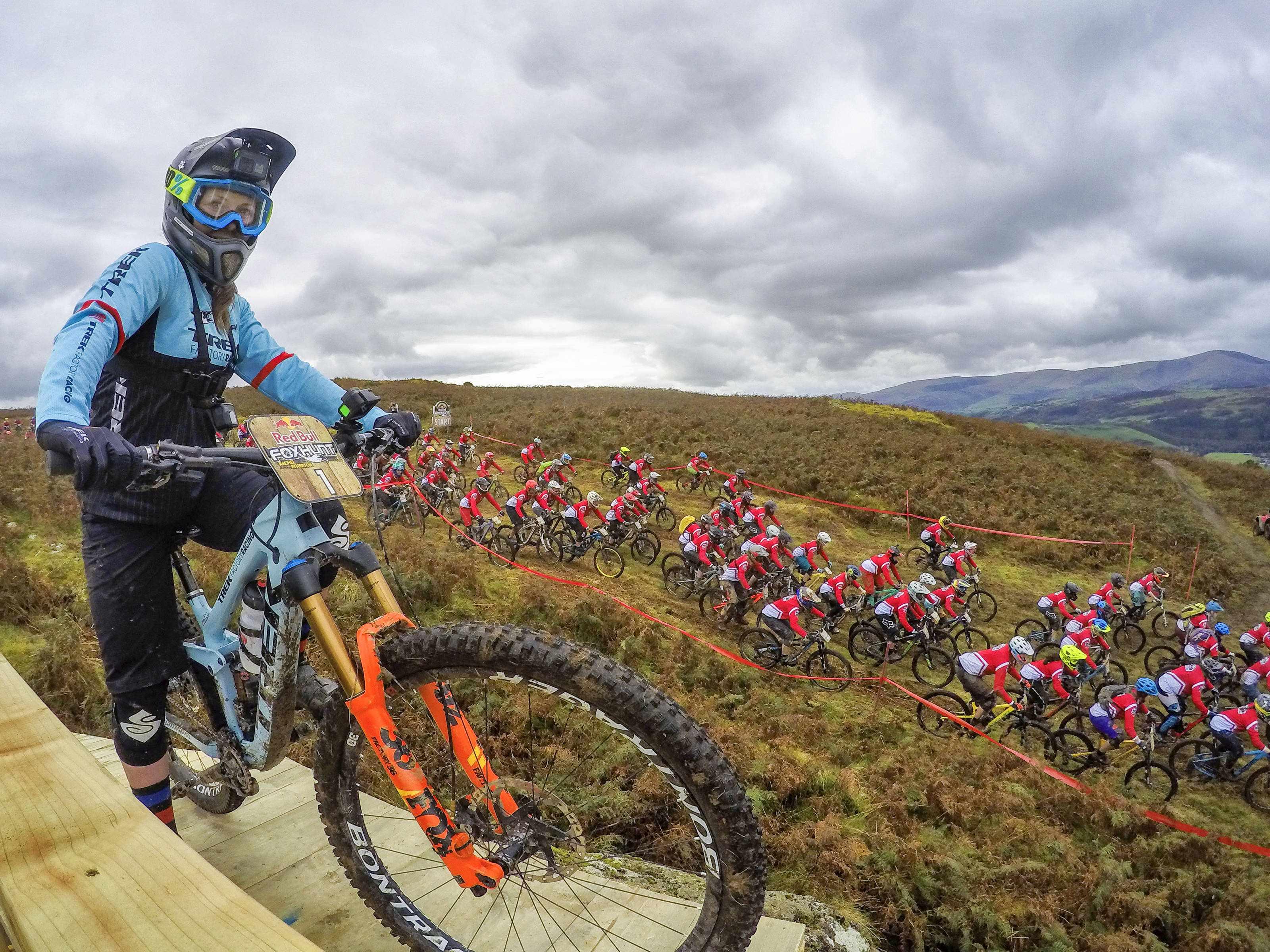 Katy Winton riding Trek Slash at the Red Bull Fox Hunt in North Wales