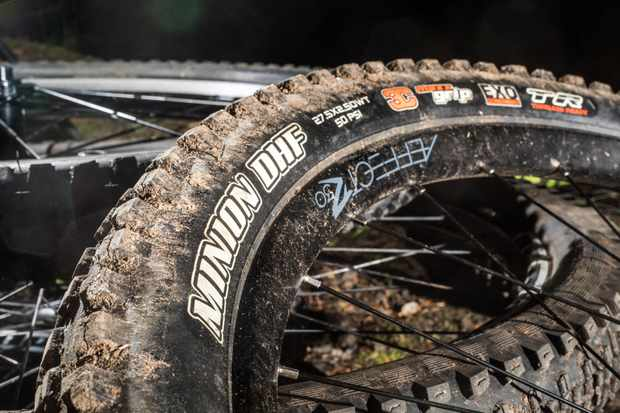 The Maxxis Minion DHF Wide Trail tyre