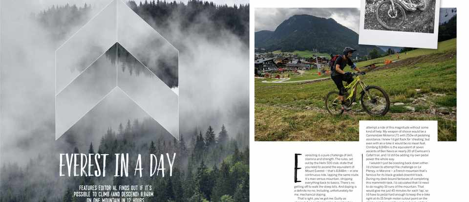 MBUK's Everest challenge feature with a Cannondale e-bike