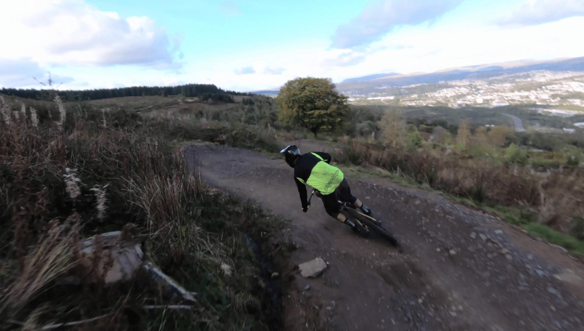 MBUK's Technical Editor Rob Weaver testing on the 2018 Santa Cruz Nomad at Bike Park Wales