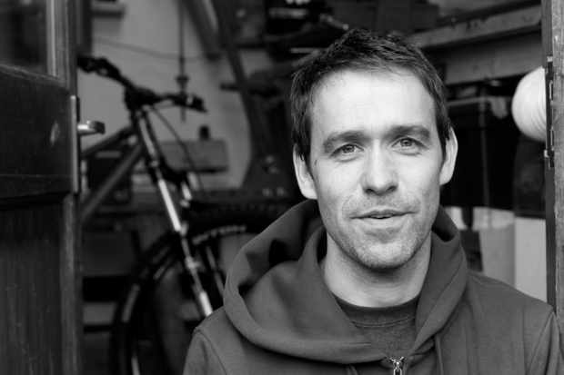 A portrait photograph of Joe McEwan, the founder of Starling Cycles