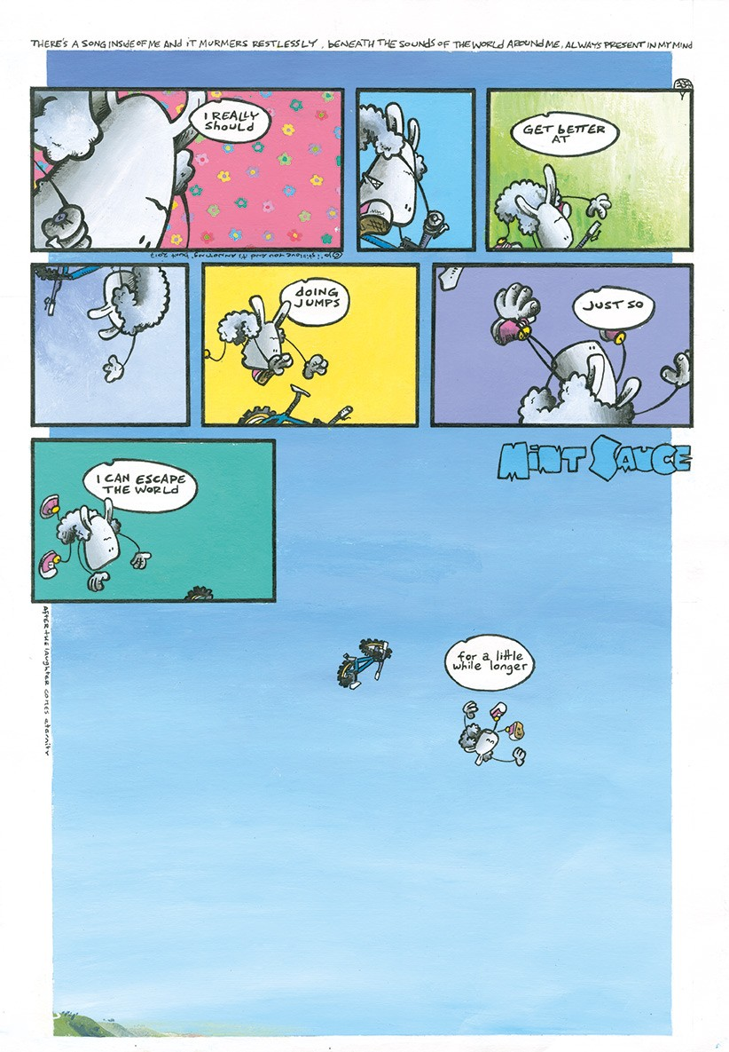 Mint Sauce comic strip from MBUK