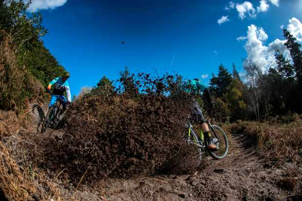 Alex Evans and Ben Cannell ride £500 hardtail mountain bikes at puddletown forest