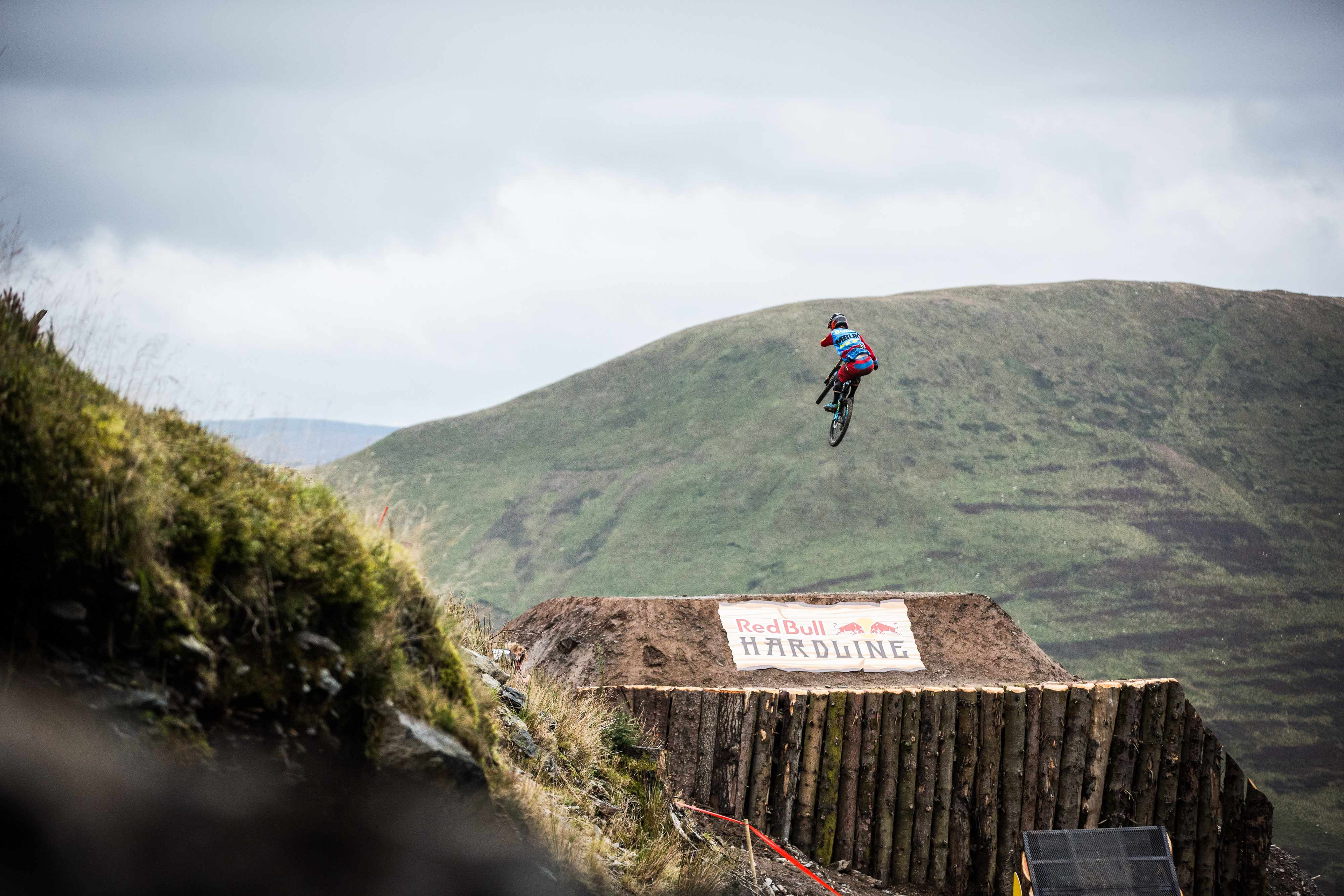 Alex Bond rides the Red Bull Hardline in North Wales