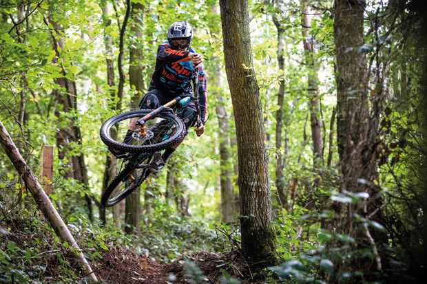 Luther Griffiths rides eastridge woods for an mbuk wrecking crew