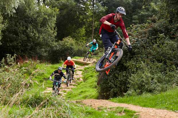 Tom Gethin rides 417 bike park in gloucestershire on an MBUK wrecking crew photoshoot