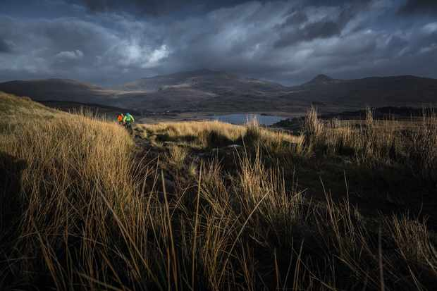Storm rolling in on big ride in the Lake District