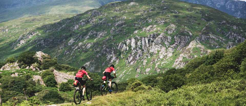 Joe and Tom ride the Welsh coast-to-coast ride off road on Cannondale bikes