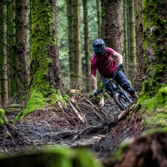Alex Evans rides Roots Manoeuvres at BikePark Wales