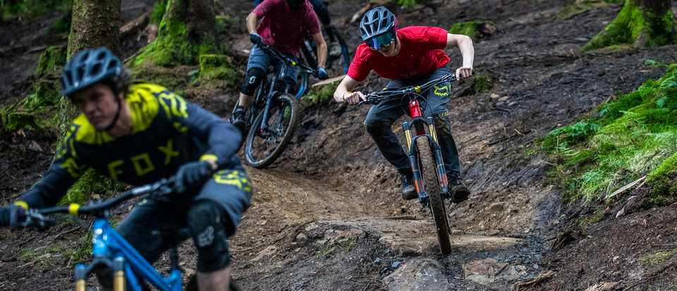 The BikePark Wales crew and MBUK Staff ride Roots Manoeuvres