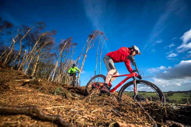 Riding the Giant Anthem 29er 2 and and Scott Spark 940 on the MBUK bike test