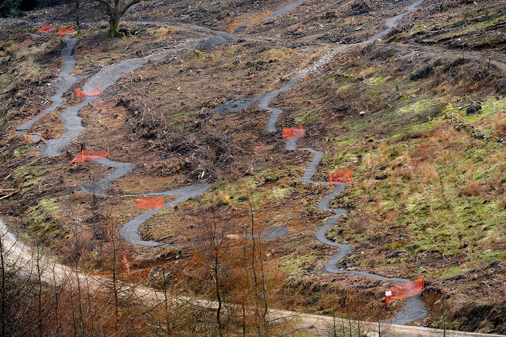 two new ribbons of trail at BikePark Wales