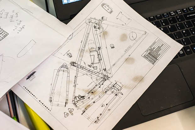 Stif Cycles Morf technical drawings