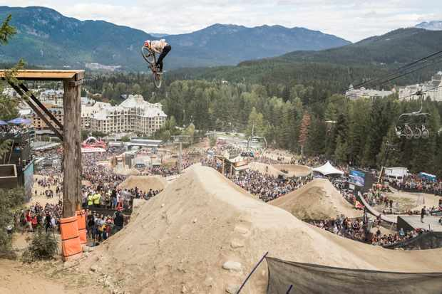 Emil Johansson performs at the Red Bull Joyride in Whistler, Canada on August 20, 2017
