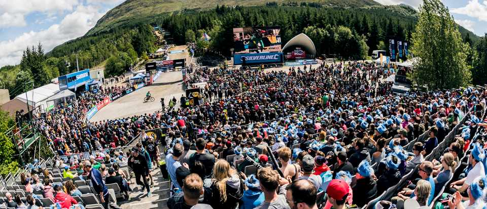 The Fort William World Cup always draws the crowds and 2017 was no exception. Credit: Bartek Wolinski/Red Bull Content Pool