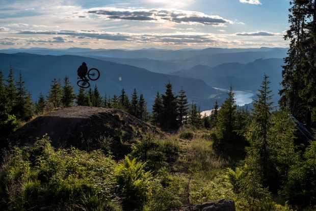 Trond Hansen rides Hafjell Bike Park