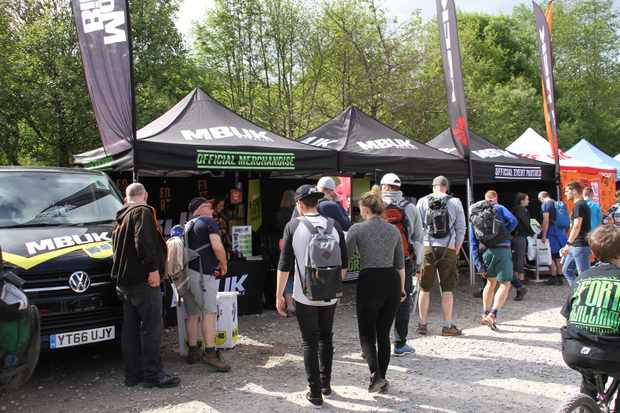 The mbuk stand at Fort William Downhill World Cup 2018