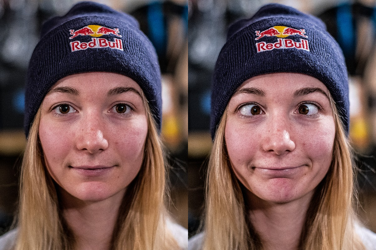 UK downhill star Tahnee Seagrave is serious on the race track, less so off it