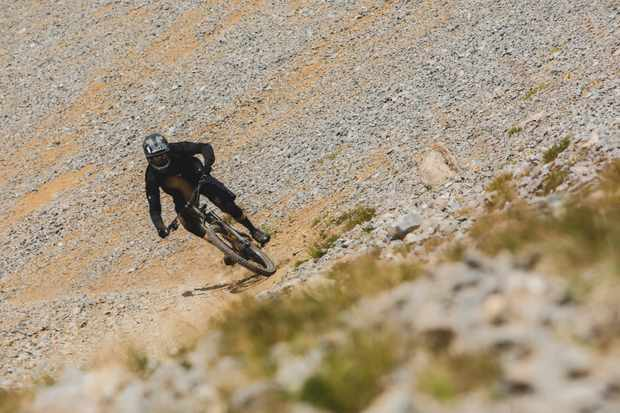 Ed Thomsett rides the Kona Process 153 in Tignes, France