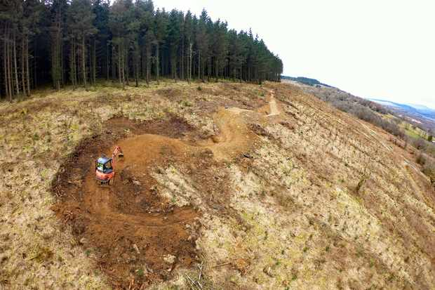 Digging at BikePark Wales