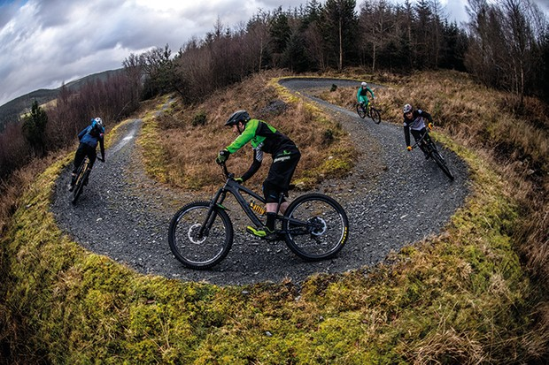 17.01.18. Coed-y-Brenin, Wrecking Crew Mountain Biking UK Adam Brayton, Joe Smith, Matt Walker, Ed Thomsett. PIC © Andy Lloyd www.andylloyd.photography