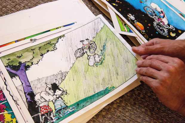 Looking at sketches and artwork for Mint Sauce