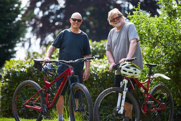 MBUK founding editor Tym Manley and mountain biking photographer Steve Behr