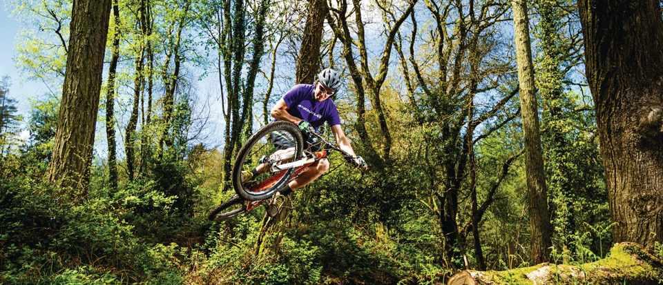 Mountain biker in Haldon