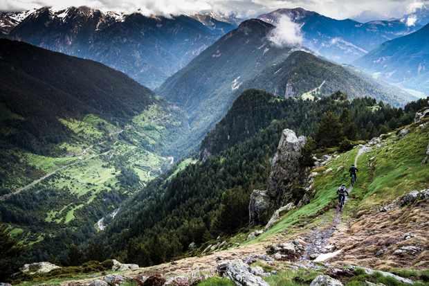 Dan Milner rides through the wild Spanish trails in Ainsa