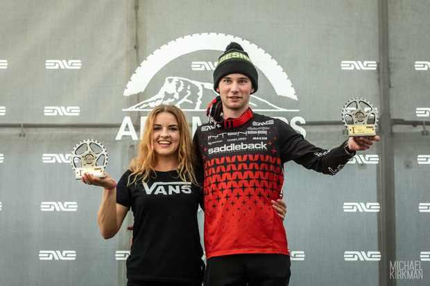 Gabriele Gelgotaite and Joe Breeden topped the podium. Photo: Mick Kirkman