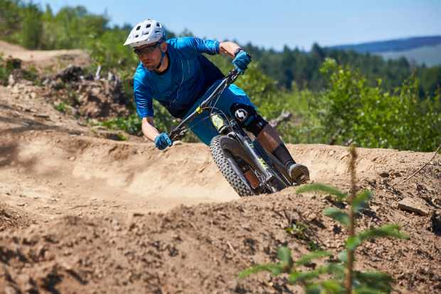 MBUK editor James Costley-White at BikePark Wales. Photo: Steve Behr