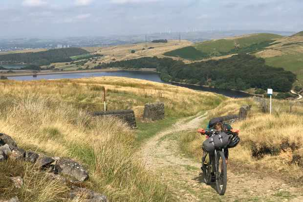 Climbing west to east across the savage Pennine hills to Holmfirth