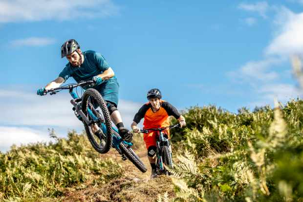 Four two-grand trail bikes tested bar to bar and head to head. Photo: Mick Kirkman