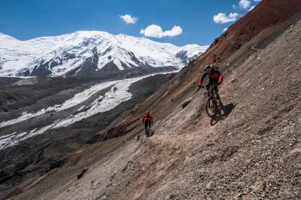 Awesome untouched riding high up in the Kyrgyzstan mountains. Photo Dan Milner