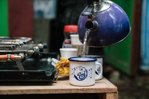 Mint Sauce Enamel mug, blue and white edition