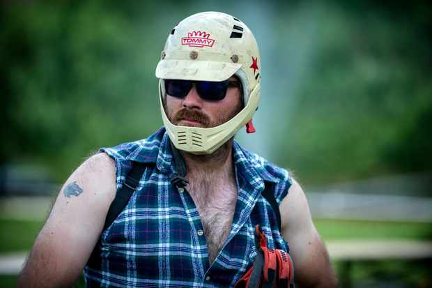 It was great to see Alan from the Hangover racing his klunker. Photo: Andy Lloyd